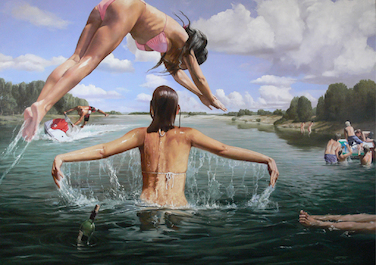 Cool water, 2014, Oil on canvas, 150 x 200 cm