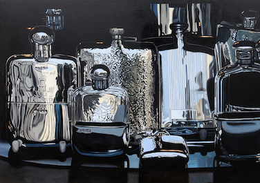 Pocket bottles, 2016, Oil on canvas, 60 x 100 cm