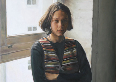 Sabrina  vor dem Fenster, 1995, Oil on canvas, 70 x 100 cm