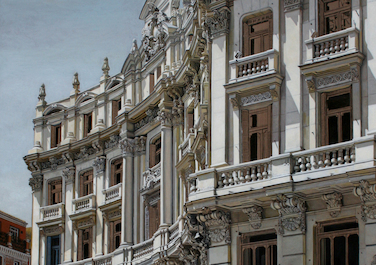 Calle de Sevilla in Madrid (work in progress), 2013, Oil on canvas, 207 x 129 cm